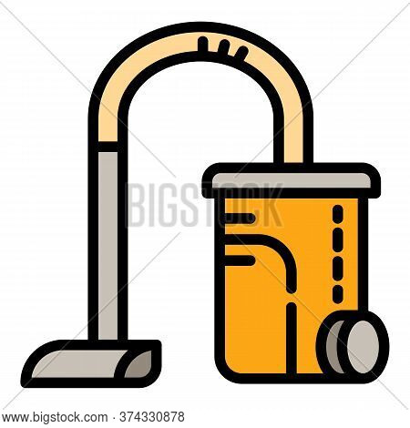 Machine Vacuum Cleaner Icon. Outline Machine Vacuum Cleaner Vector Icon For Web Design Isolated On W