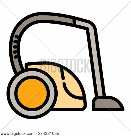 Electric Vacuum Cleaner Icon. Outline Electric Vacuum Cleaner Vector Icon For Web Design Isolated On