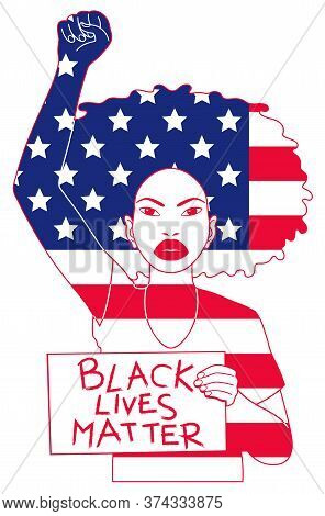 Graphic Symbol Representing The Struggle Of The American Black People Against Racism
