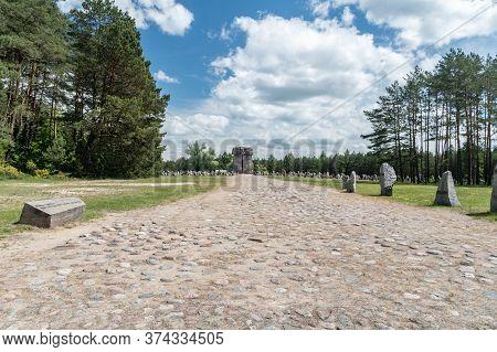 Wolka Okraglik, Poland - June 2, 2020: Memorial Stones With Country Names In Nazi German Treblinka E