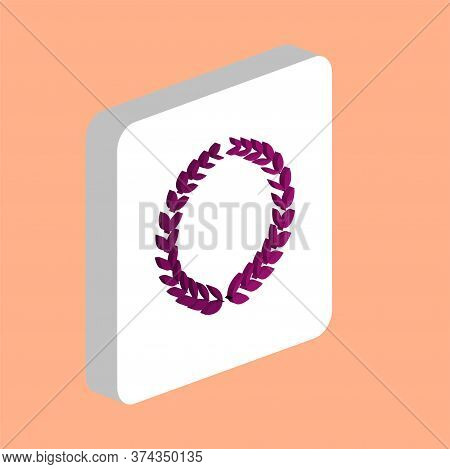 Triumph Wreath Simple Vector Icon. Illustration Symbol Design Template For Web Mobile Ui Element. Pe