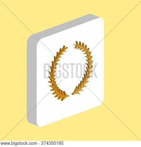Laureate Wreath Simple Vector Icon. Illustration Symbol Design Template For Web Mobile Ui Element. P