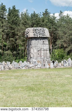 Wolka Okraglik, Poland - June 2, 2020: Memorial At Treblinka Ii Of Nazi German Extermination Camp In