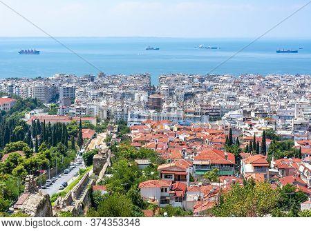 Summer Cityscape Of Thessaloniki Town In Greece