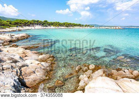 Karydi Beach In Vourvourou, Sithonia Peninsula, Chalkidiki, Greece