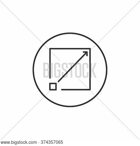 External Link Social Media Icon Isolated On White Background. Maximize Symbol Modern Simple Vector I