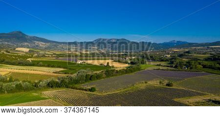 view of baronia provencal- Provence in France