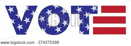 Vote Graphic | Bumper Sticker Design To Promote Voting | Campaign Resource | Vector Symbol