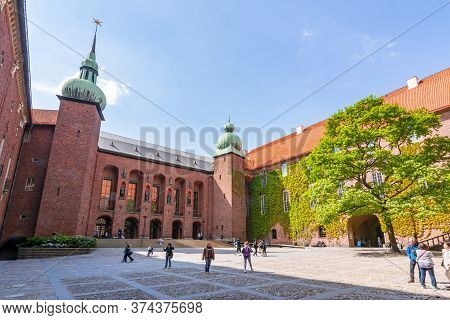 Stockholm City Hall Courtyard, Sweden - June 2019