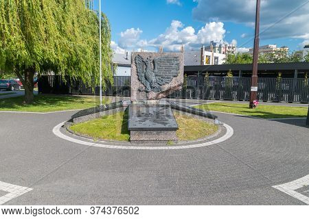 Wyszkow, Poland - June 2, 2020: Monument In Tribute To The Heroes Of September 1939 To Soldiers Of T