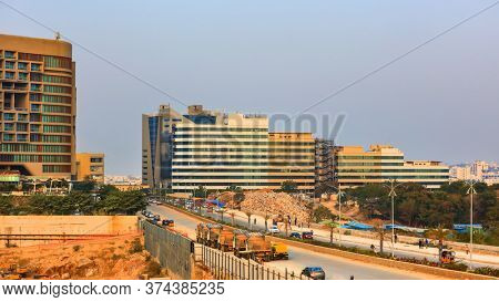 Hyderabad, INDIA - January 12 : Hyderabad information technology city is 2nd largest IT hub in India, on January 12 2018, Hyderabad, India