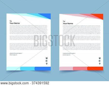 Corporate Business Geometric Letterhead Printable Template Design