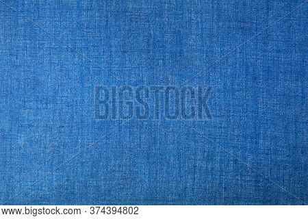 Blue Vintage Plain Fabric Background Suitable For Any Graphic Design, Poster, Website, Banner, Greet