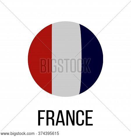 France Flag In Circle. France Flag. National France Flag. Flag Background. Vector Illustration.