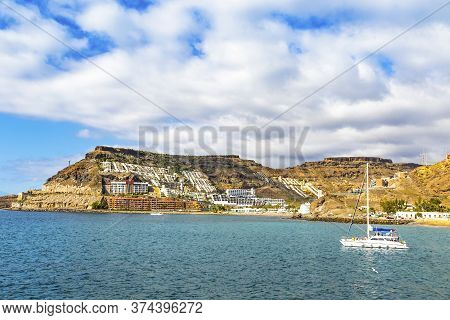 Canary Islands, Spain - December 12, 2018: Picturesque Bay Of Atlantic Ocean Near The Tauro Beach (s