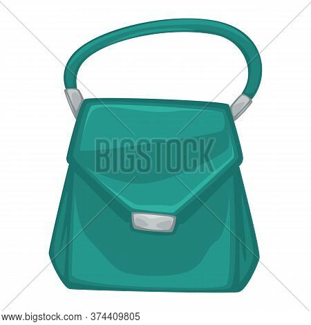 Stylish Female Bag With Metal Clasps And Handle