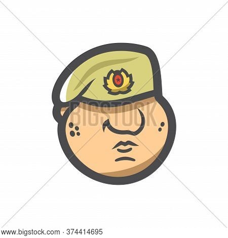 Maroon Military Of Army Special Forces Vector Cartoon Illustration