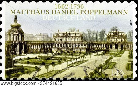 02 10 2020 Divnoe Stavropol Territory Russia The Germany Postage Stamp 2012 The 350th Anniversary Of