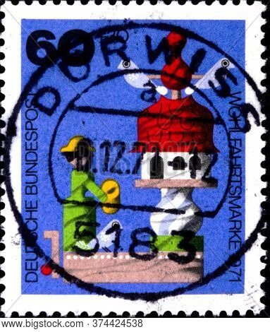 02 08 2020 Divnoe Stavropol Territory Russia The Germany Postage Stamp 1971 Charity Stamps - Welfare
