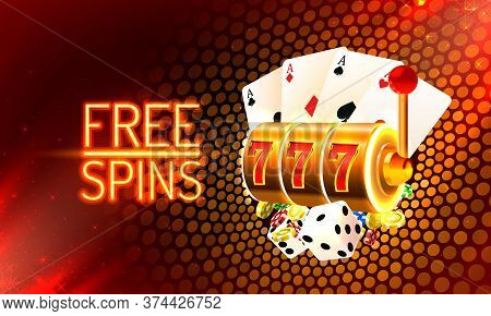Jackpot King Spins 777 Banner Casino On The Golden Background.