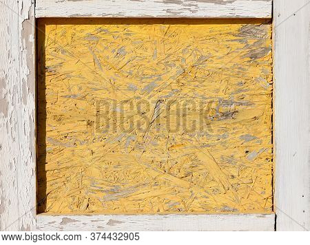 Pressed Wooden Panel Background. Osb Wood Board.