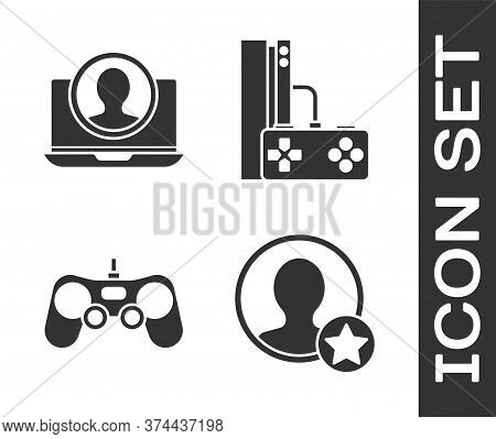 Set Premium Create Account Screen, Create Account Screen, Gamepad And Game Console With Joystick Ico