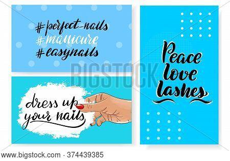 Nails Master Gift Voucher Card Template. Pop Art