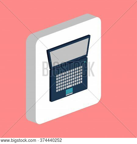 Netbook, Notebook Simple Vector Icon. Illustration Symbol Design Template For Web Mobile Ui Element.