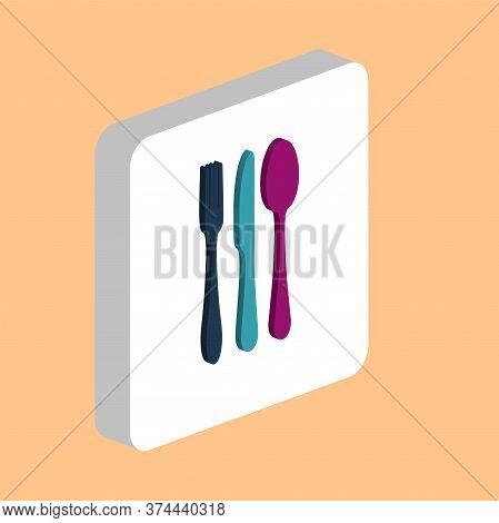 Fork Spoon Knife Simple Vector Icon. Illustration Symbol Design Template For Web Mobile Ui Element.