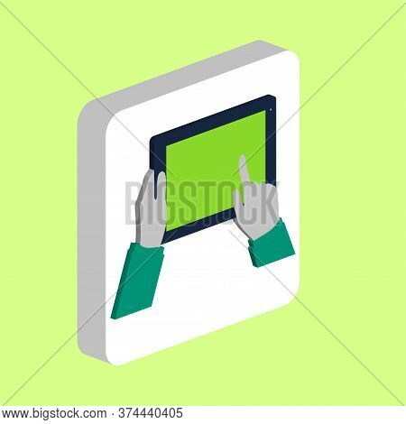 Use Tablet, Tap Simple Vector Icon. Illustration Symbol Design Template For Web Mobile Ui Element. P
