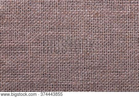 Weaving Of Twisted Fiber, Thread. Beautiful Texture. Burlap Fabric. Beautiful, Braided Fiber Pattern