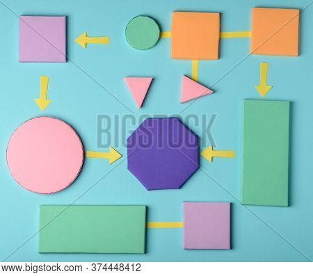 Colorful Graphic Organizer Template. Creative Diagram Concept