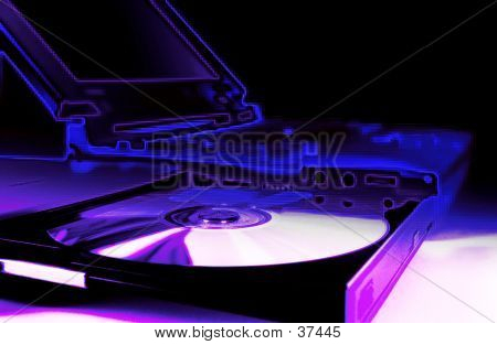 Notebook Computer With CD Drive.