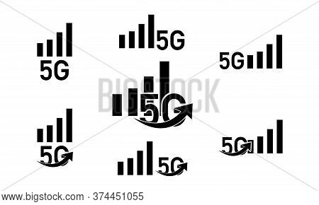 5g Vector Icon. Flat 5g Symbol Is Isolated On A White Background.