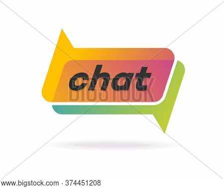 Chat Logo Gradient Style Isolated On Background For Social Media, Communication, Chat Bot, Chatting