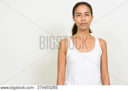 Portrait Of Beautiful Multi Ethnic Woman Looking At Camera