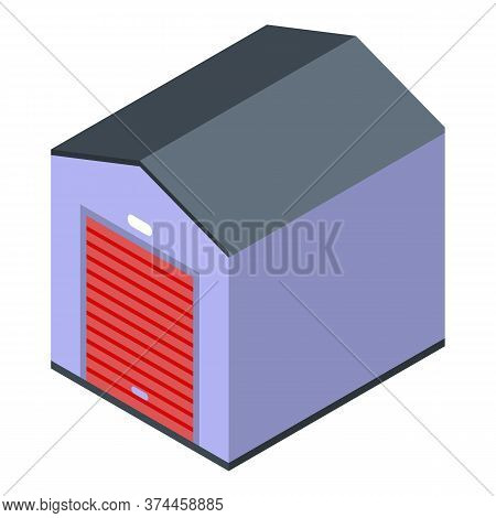 Warehouse Icon. Isometric Of Warehouse Vector Icon For Web Design Isolated On White Background