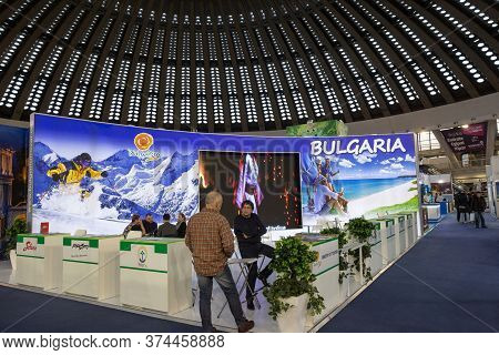 Belgrade, Serbia - February 24, 2019: Stand In Belgrade Promoting Bulgaria As A Touristic Destinatio