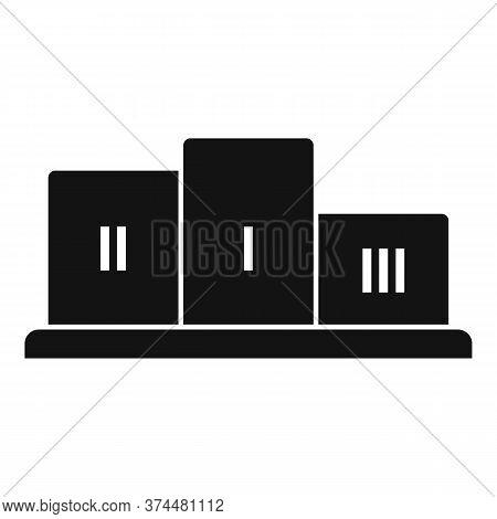 Gamification Podium Icon. Simple Illustration Of Gamification Podium Vector Icon For Web Design Isol