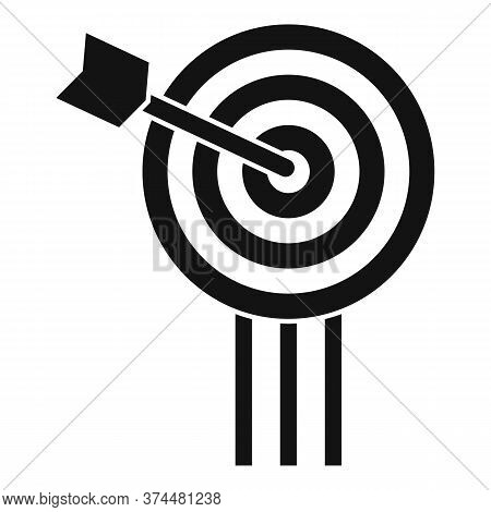 Video Game Arch Target Icon. Simple Illustration Of Video Game Arch Target Vector Icon For Web Desig
