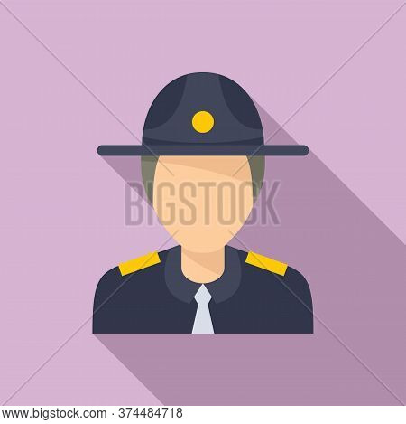 Police Officer Icon. Flat Illustration Of Police Officer Vector Icon For Web Design