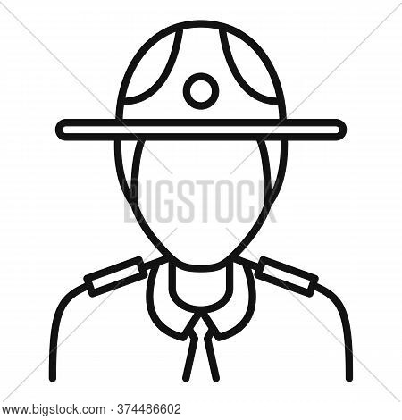 Police Officer Icon. Outline Police Officer Vector Icon For Web Design Isolated On White Background