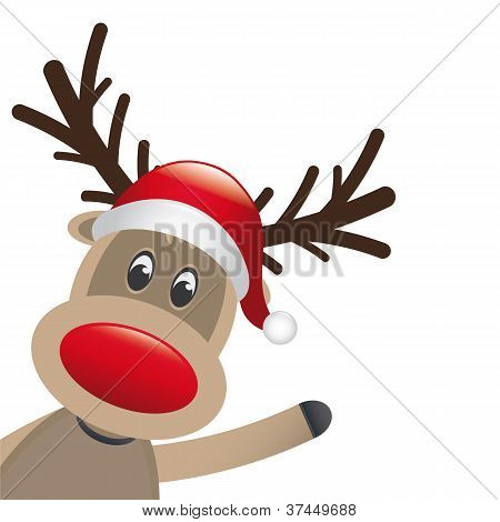 Reindeer Red Nose Wave