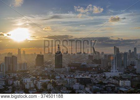 Bangkok, Thailand - Jun 30, 2020 : Beautiful City View Of Bangkok, Thailand - Jun 17, 2020 : Bangkok