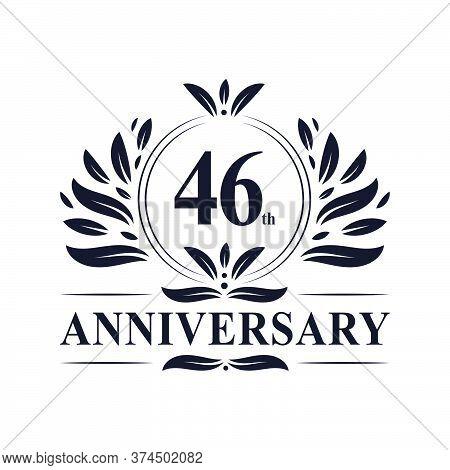46th Anniversary Celebration, Luxurious 46 Years Anniversary Logo Design.