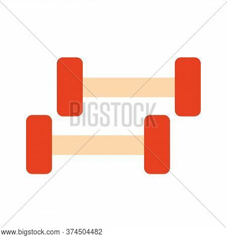 Weights Flat Style Icon Design, Gym Sport Bodybuilding Healthy Lifestyle Activity Cardio Leisure And