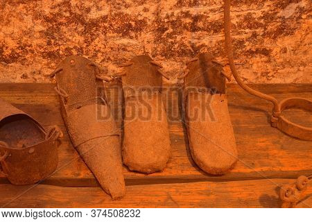 Boots For Torture Purposes. First And Foremost These Iron Boots Were Instruments Of Public Shaming.