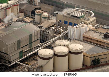 Aerial View Of Industrial Buildings