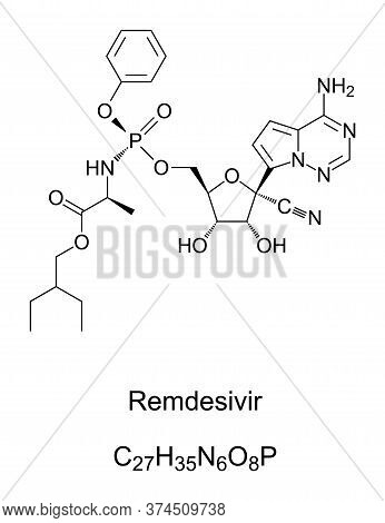 Remdesivir. Chemical Structure. A Broad-spectrum Antiviral Medication. Remdesivir Is The Internation