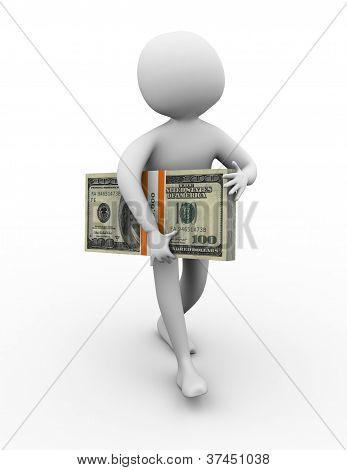 3D Man Winner Of Ten Thousand Dollar